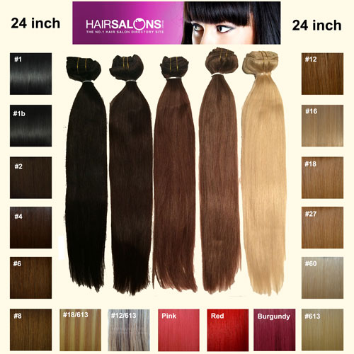 24 inch Clip In Remy Human Hair Extensions